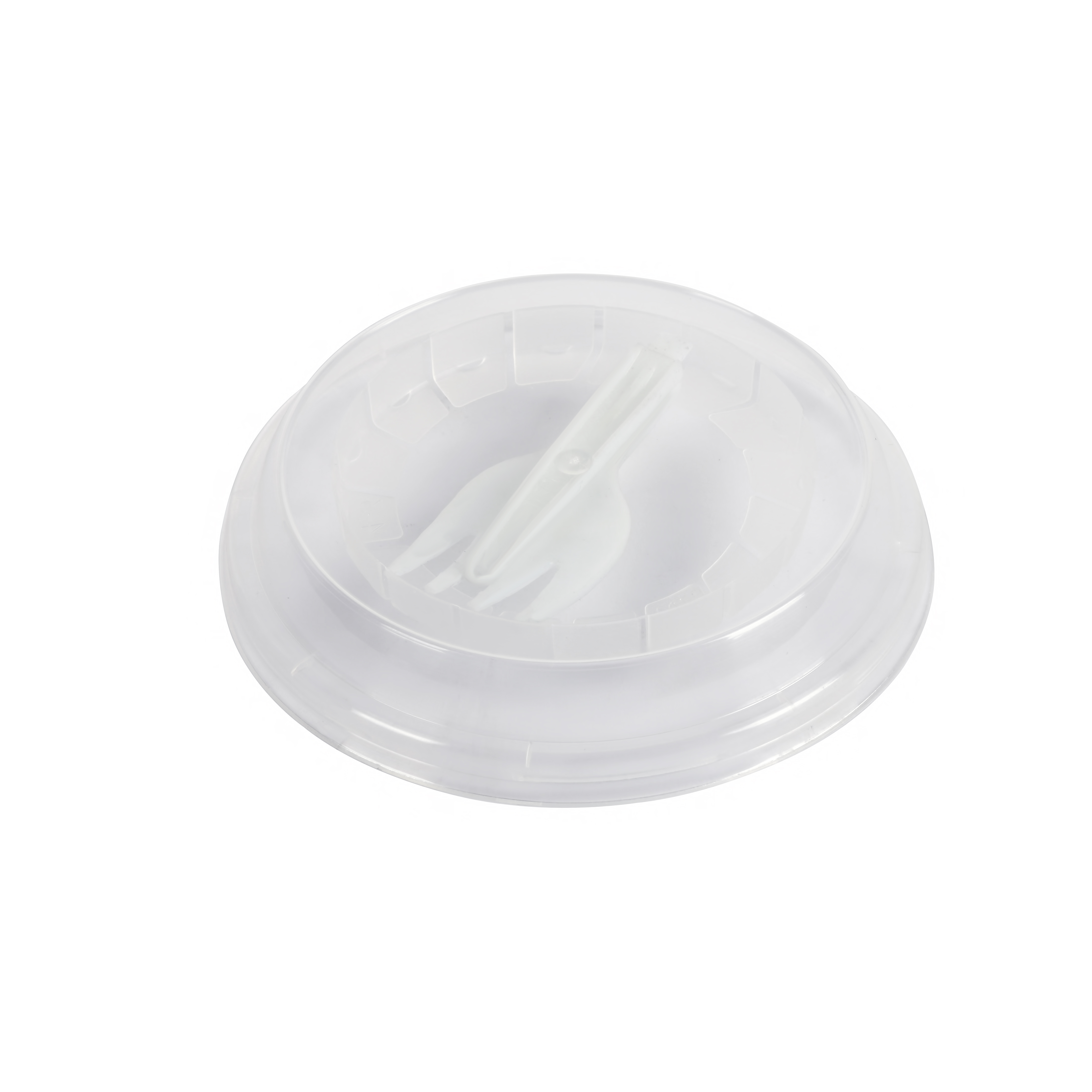 Полипропиленовая крышка (95 мм диаметра) с вложенной вилкой внутри можно купить в киеве по отличной цене.