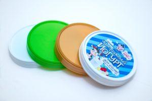 Цветные пластиковые крышки 118 мм для картонных ведер купить в киеве / Украине по отличной цене
