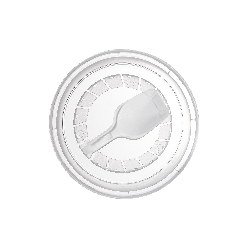 Крышка 95 мм с ложкой для йогуртов и других молочных продуктов