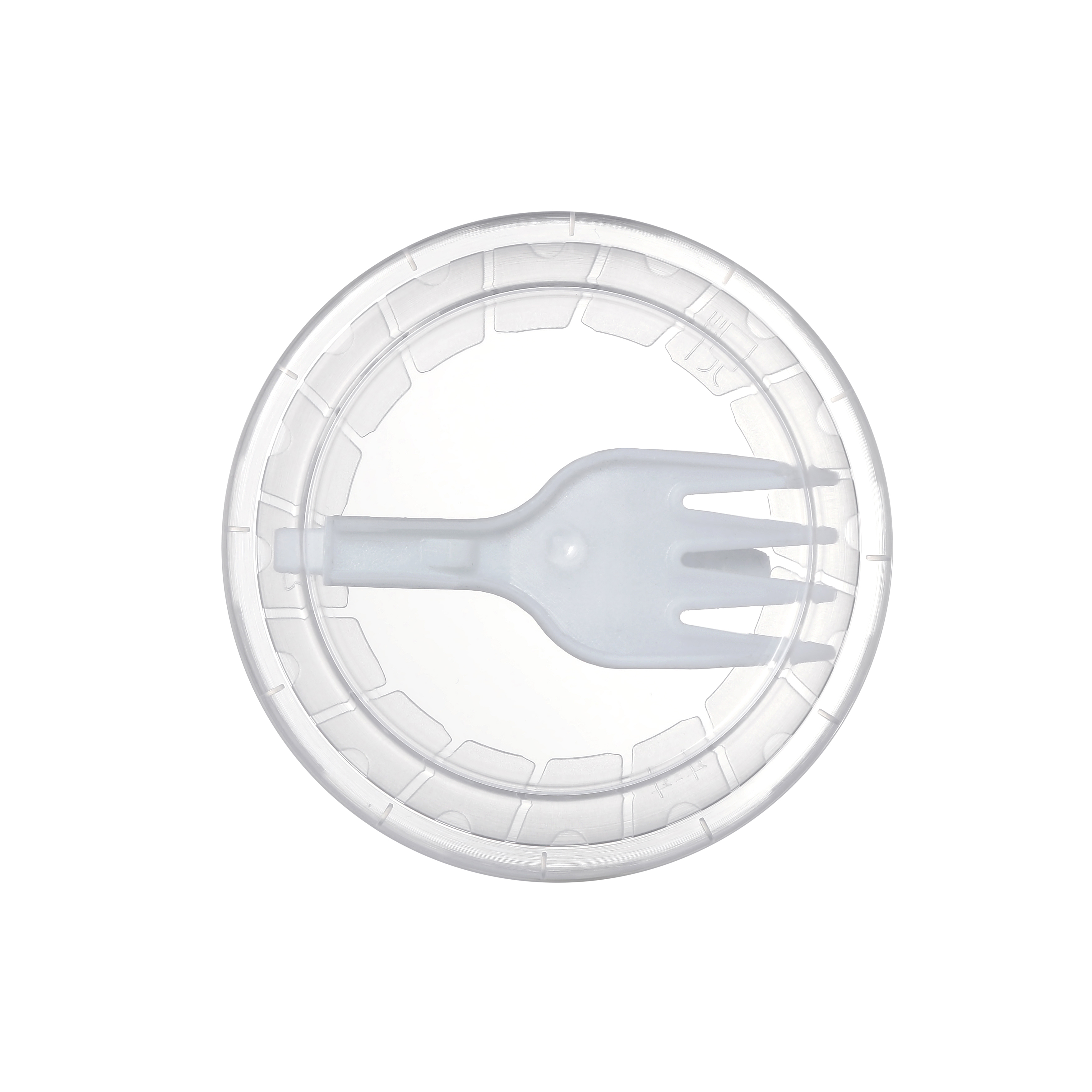 Foldable fork in lid is the best option for  consuming  noodles, salads, rice on the go