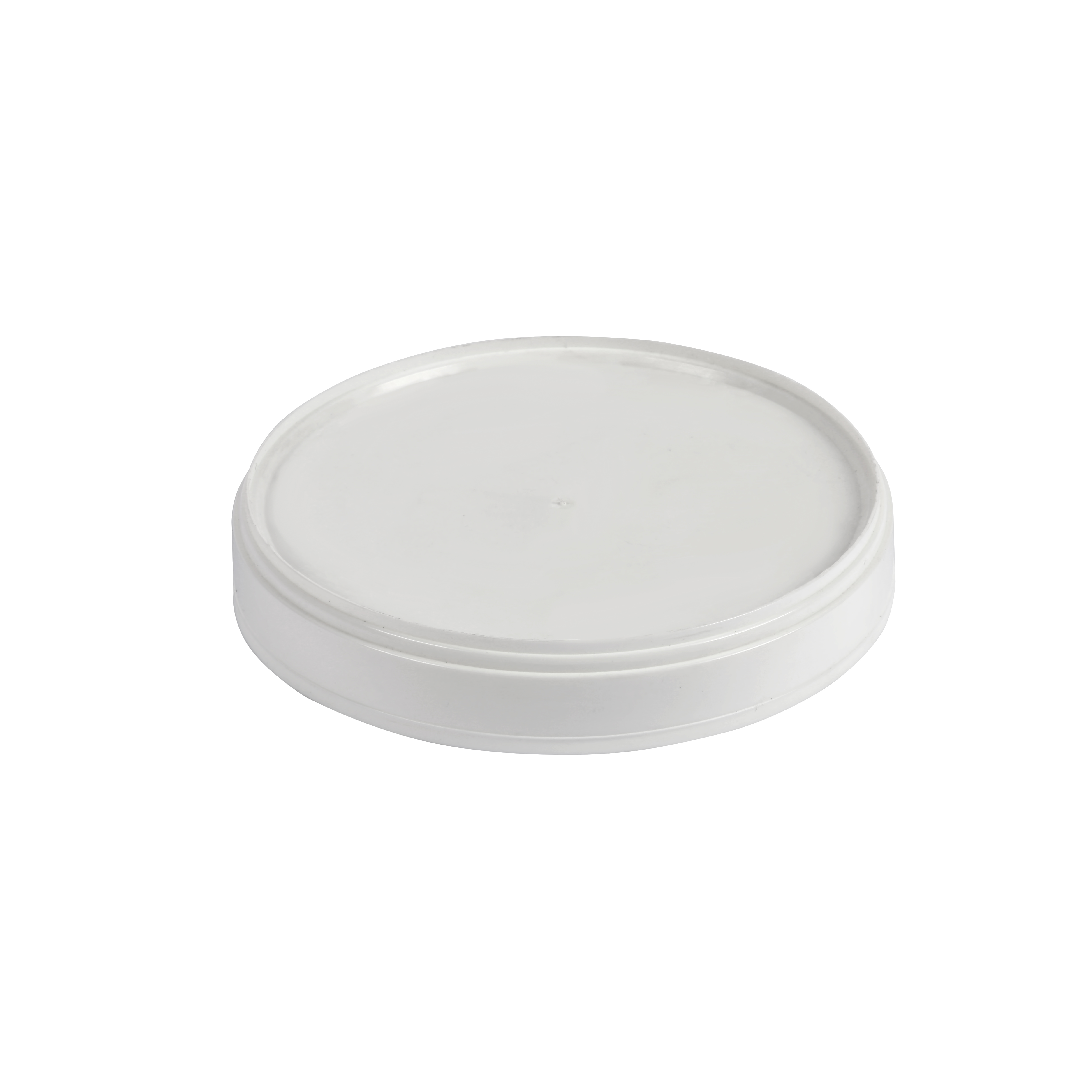Polymeric round lid 118 mm diameter for big cardboard buckets