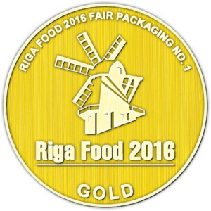 First place with spoon in lid packaging solution at Riga Food 2016